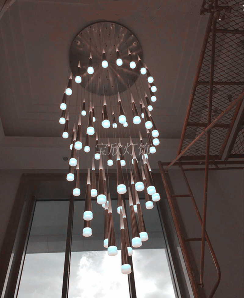 stairwell chandelier promotion shop for promotional stairwell chandelier on. Black Bedroom Furniture Sets. Home Design Ideas