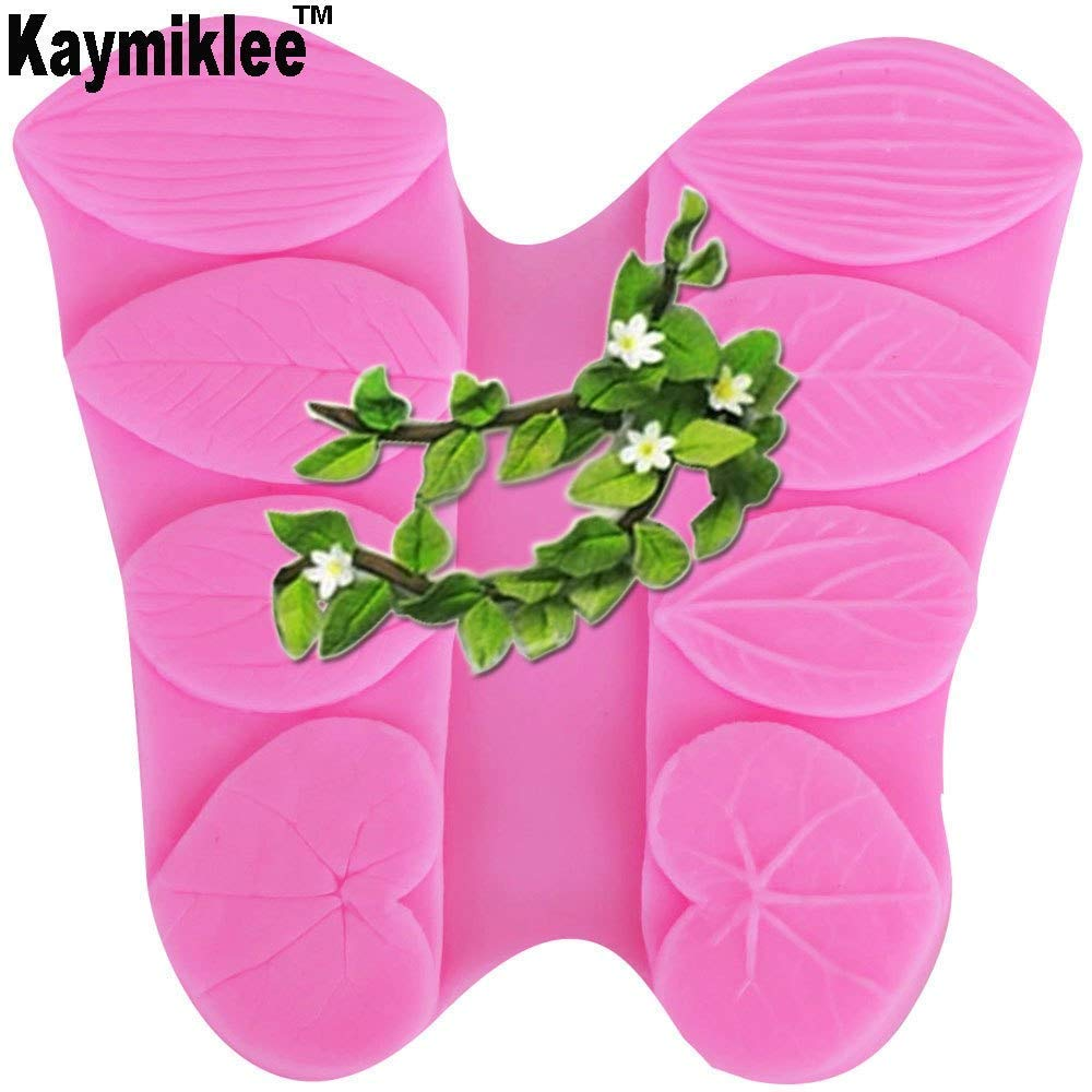 M443 Four Types of Leaves Fondant Cake Fondant Chocolate Mould for the Kitchen Baking Cake Tool 9.79.5cm NEW PRODUCT