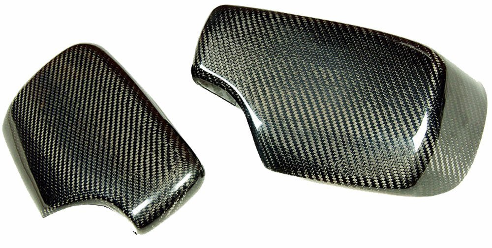 REAL CARBON FIBER WING MIRROR COVER CAP 1PAIR FOR BMW E46 3-SERIES 325 330 323 328 98-06