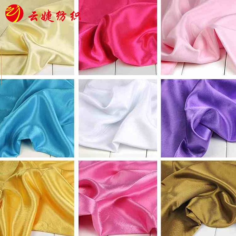 100% polyester 80gsm shiny satin fabric stretch satin fabric wholesale for wedding