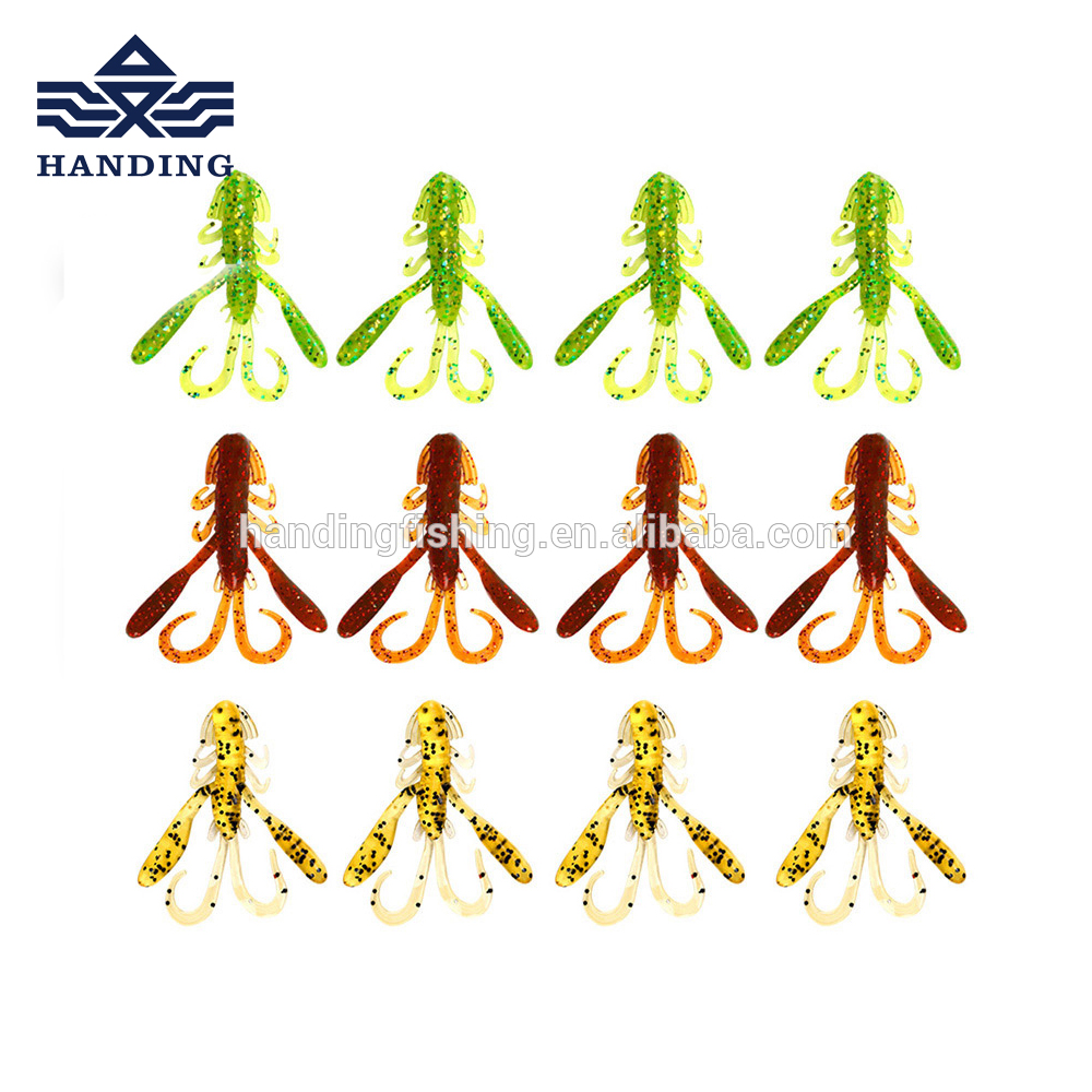 Handing 25mm 2.9g high quality soft <strong>fishing</strong> lure artificial baits paddle tail lure