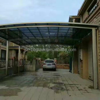 guangzhou anti slijtage aluminium carport overkapping kunststof polycarbonaat auto garage