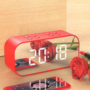 Portable Bluetooth Speaker with LED Alarm Clock sd card reader usb sd card reader mini speaker