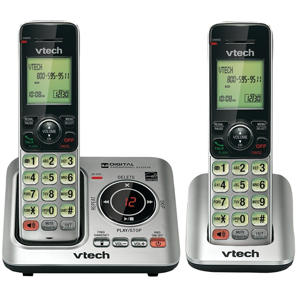 VTECH - VTECH VTCS6629-2 DECT 6.0 EXPANDABLE SPEAKERPHONE WITH CALLER ID (2-HANDSET SYSTEM)