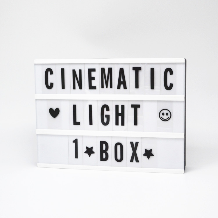Cinematic Light Box Sign Extra Letter Packs Cinema Style For A4 Light Up Sign