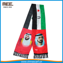 2017 custom printed satin flag national day scarf for kuwait uae