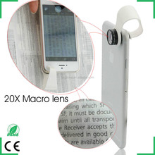 mobile phone accessories for iphone 6 20x macro lens microscope smartphone microscope cellphone clip lens
