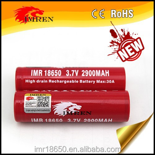 Anti-fake, IMREN IMR18650 2900mAh 30A, 3.7V lithium battery, 18650 30A battery for vaporshark,provari mod