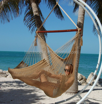 Cotton Rope Hanging Swing Chair Caribbean Hammock