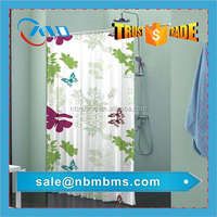 Custom Polyester Printed Shower Curtain With Liner
