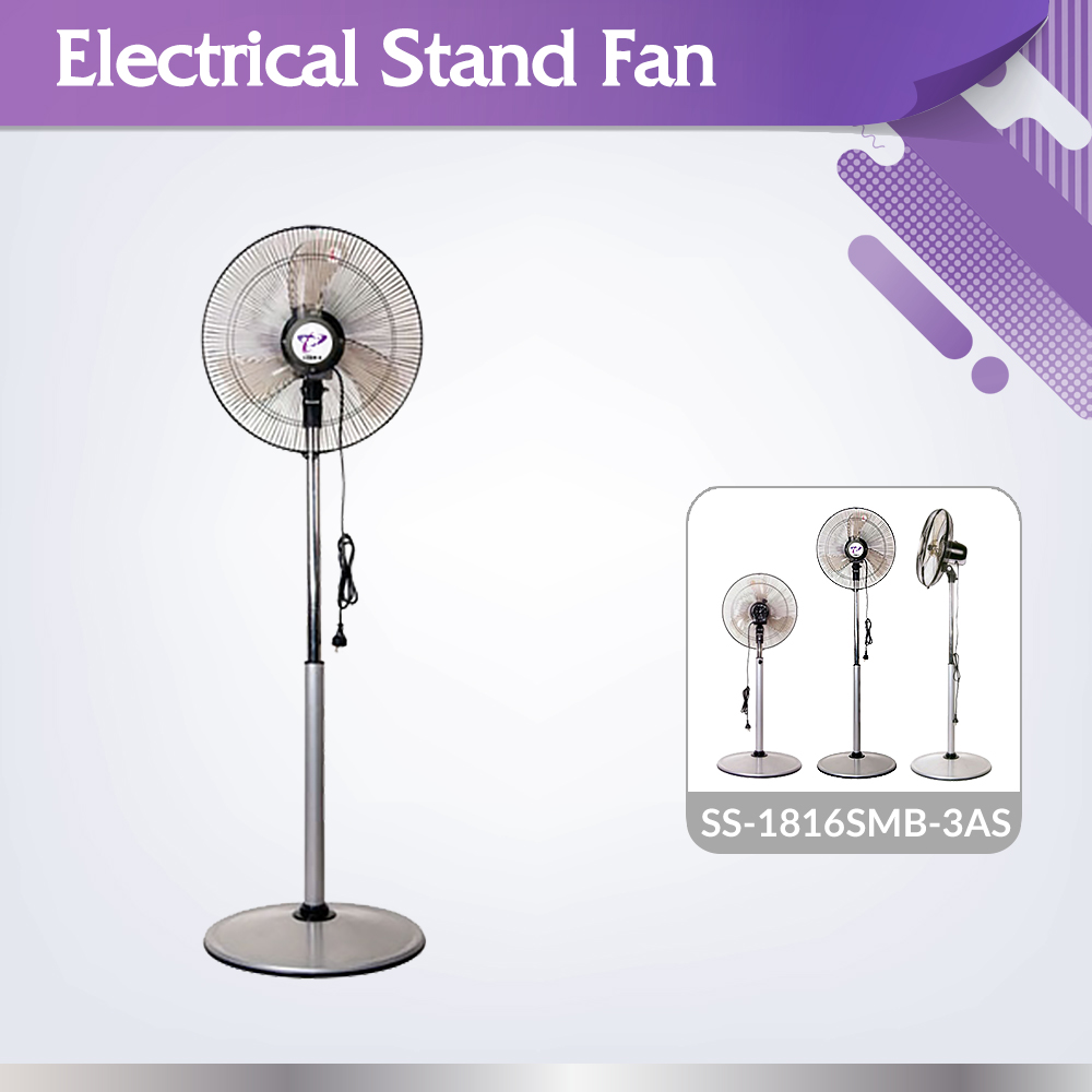 Durable high quality SS-1816SMB-3AS industrial oscillation regular stand fan