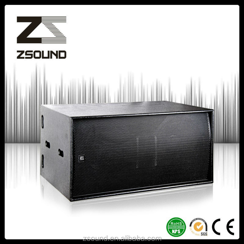 "dual 18"" powered subwoofer speaker for night club sound system"