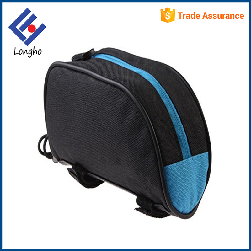 Outdoor sport water resistant bike bag front, adjustable bungee cord touring bicycle accessories bag