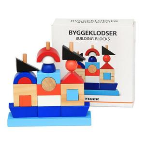 Wooden Building Blocks Pirate Ship Row Columns Wooden Early Childhood Enlightenment brick Wooden Toys
