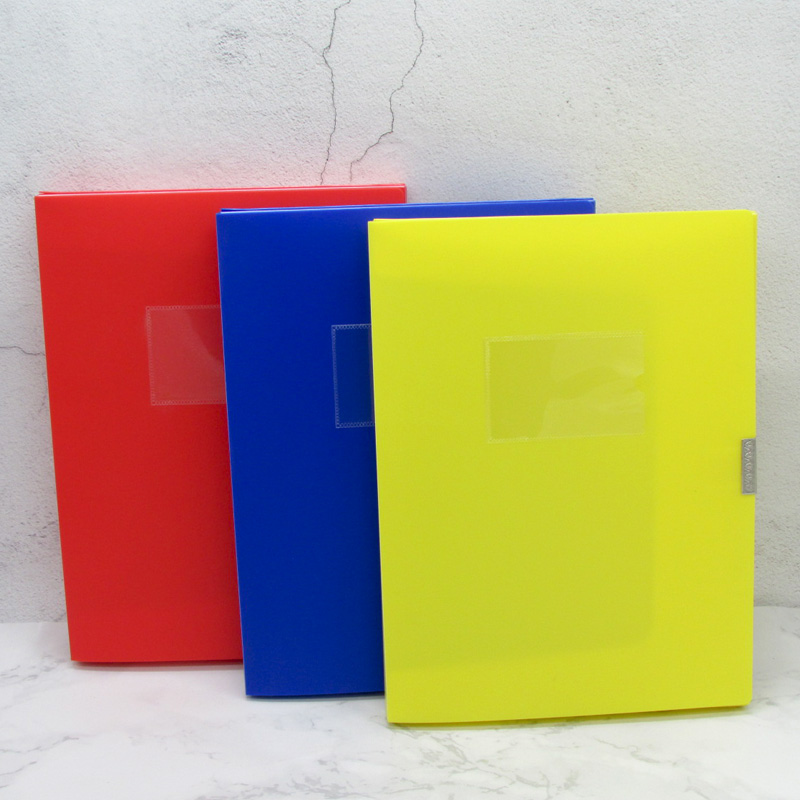 Custom Printing Plastic Colored Decorative File Box A4 File Box Alat Tulis Kantor