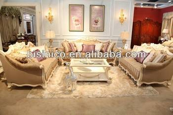 European Living Room Furniture Sectional Sofa Set, Elegant Royal Furniture Sofa  Set, Queening Pinstriped