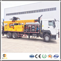 6x4 Truck mounted 600m hydraulic borehole drilling rig for big diameter water well drilling with DTH and Mud drilling