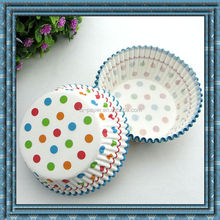 Polka dot cake cup paper