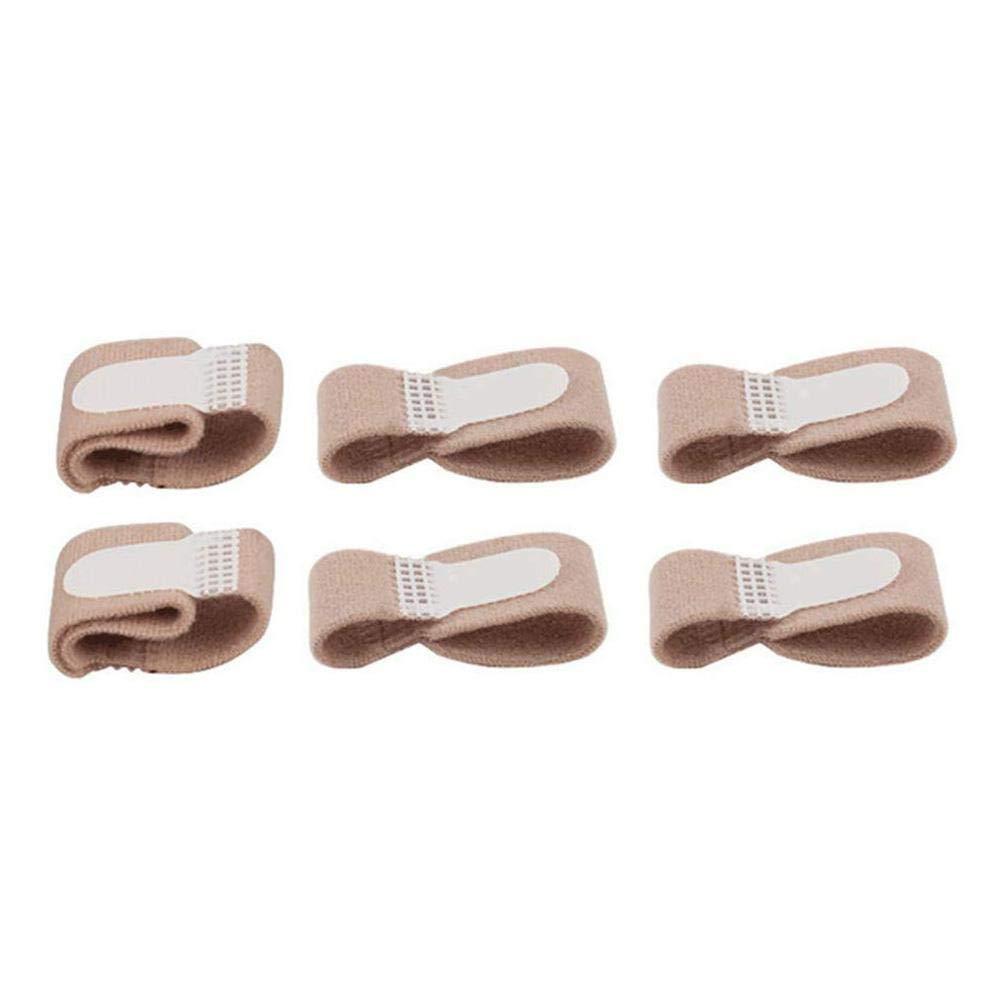 3423ad85209 Aolvo 6PCS Broken Toe Splint Toe Corrector Big Toe Alignment Fracture  Splint Toe Bandages Toe Protectors
