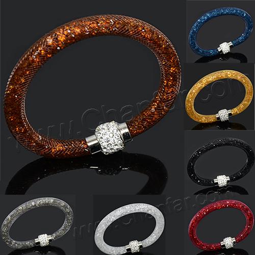 Красивый дизайн многоцветный глины кристалл магнитная застежка сетки звездной пыли браслет с женщины браслет