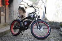 Lohas/OEM aluminum alloy 26 inch stealth bomber hidden battery fat tyre electric bike/fat tyre electric bicycle