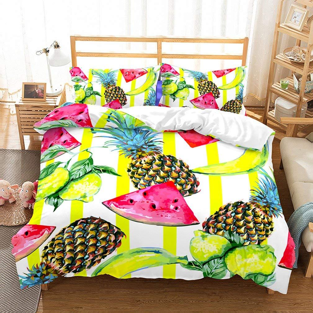 4af2bb1d008d7 Get Quotations · APJJQ Summer Fruit Patterns 2 Piece Bedding Set(1 Comforter  Cover 1 Pillow Sham)