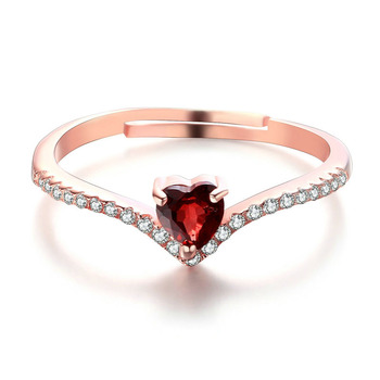 cb0d8be16e Indian Garnet Gemstone Ring Red Heart Stone Silver Ring - Buy Fancy ...