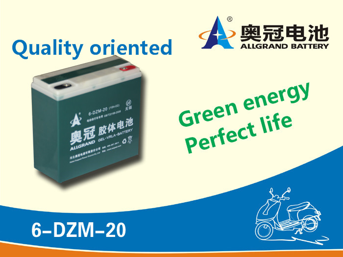 6-dzm-20 Escooter battery 12V20Ah rechargeable sealed lead acid E-bike / escooter battery