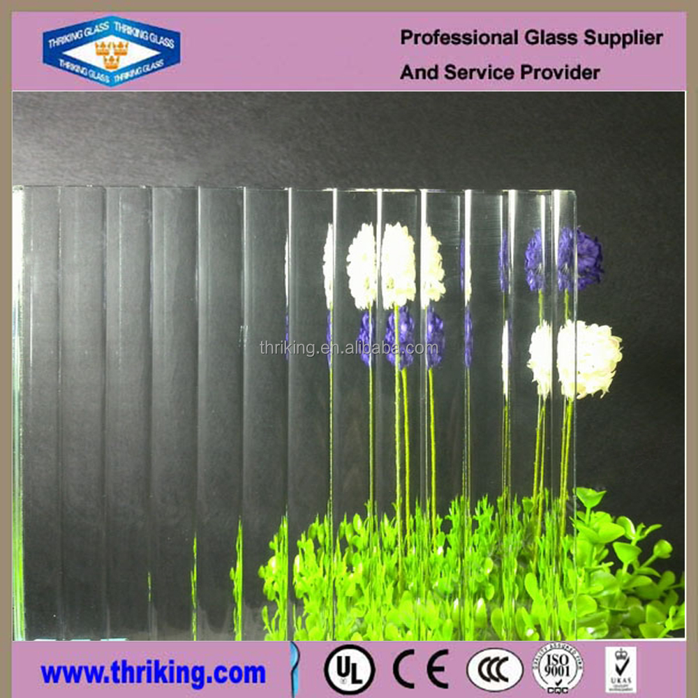 Thriking glass Newest hot sale extra clear pattern glass