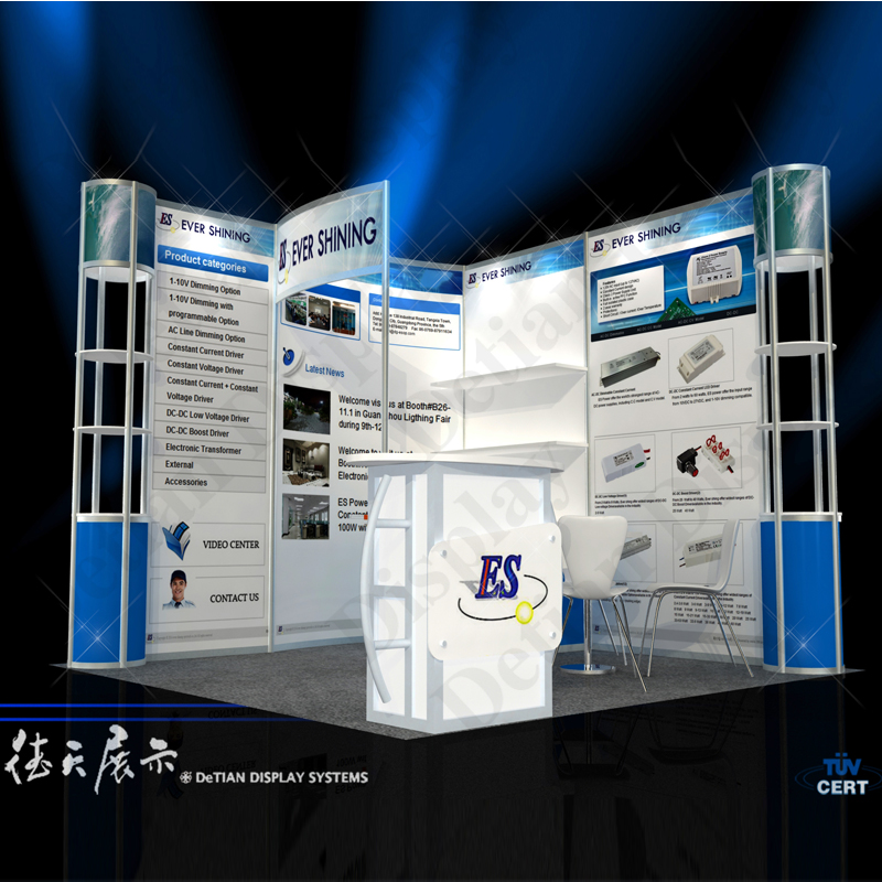 Simple Exhibition Stall : Simple modular exhibition stall design and fabrication made in