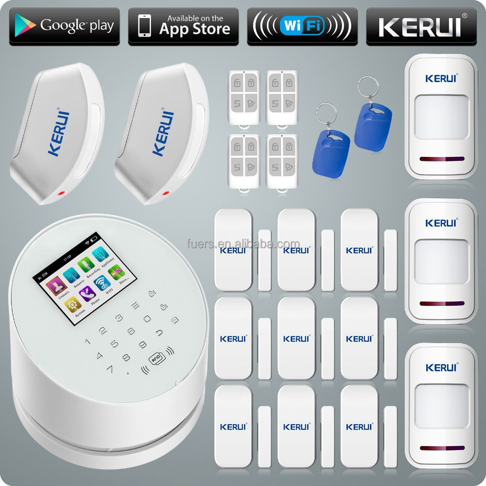 WIFI wireless mobile app android ios google play store GSM&PSTN home burglar security alarm system