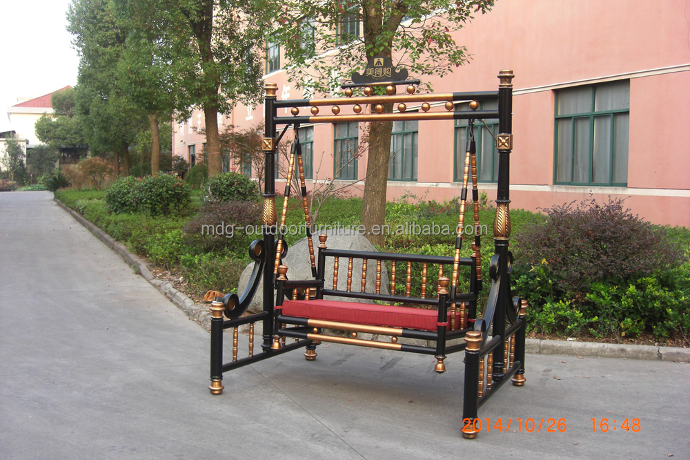 New Design Cast Aluminum Noble Furniture Patio Swing Chair Outdoor Swing Set