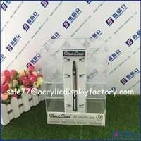 AH-YGL718 Custom high quality tabletop acrylic pen display stand/stationery counter display/retail store pen display
