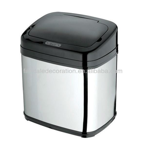 en acier inoxydable poubelle automatique du capteur 15l 20l 30l 42l 50l 16 012 b poubelle id. Black Bedroom Furniture Sets. Home Design Ideas