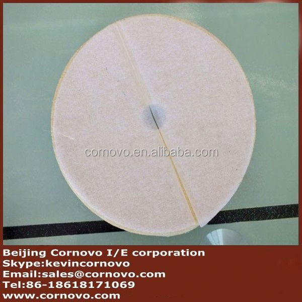 Round type sheep wool abrasive polishing stick for glass