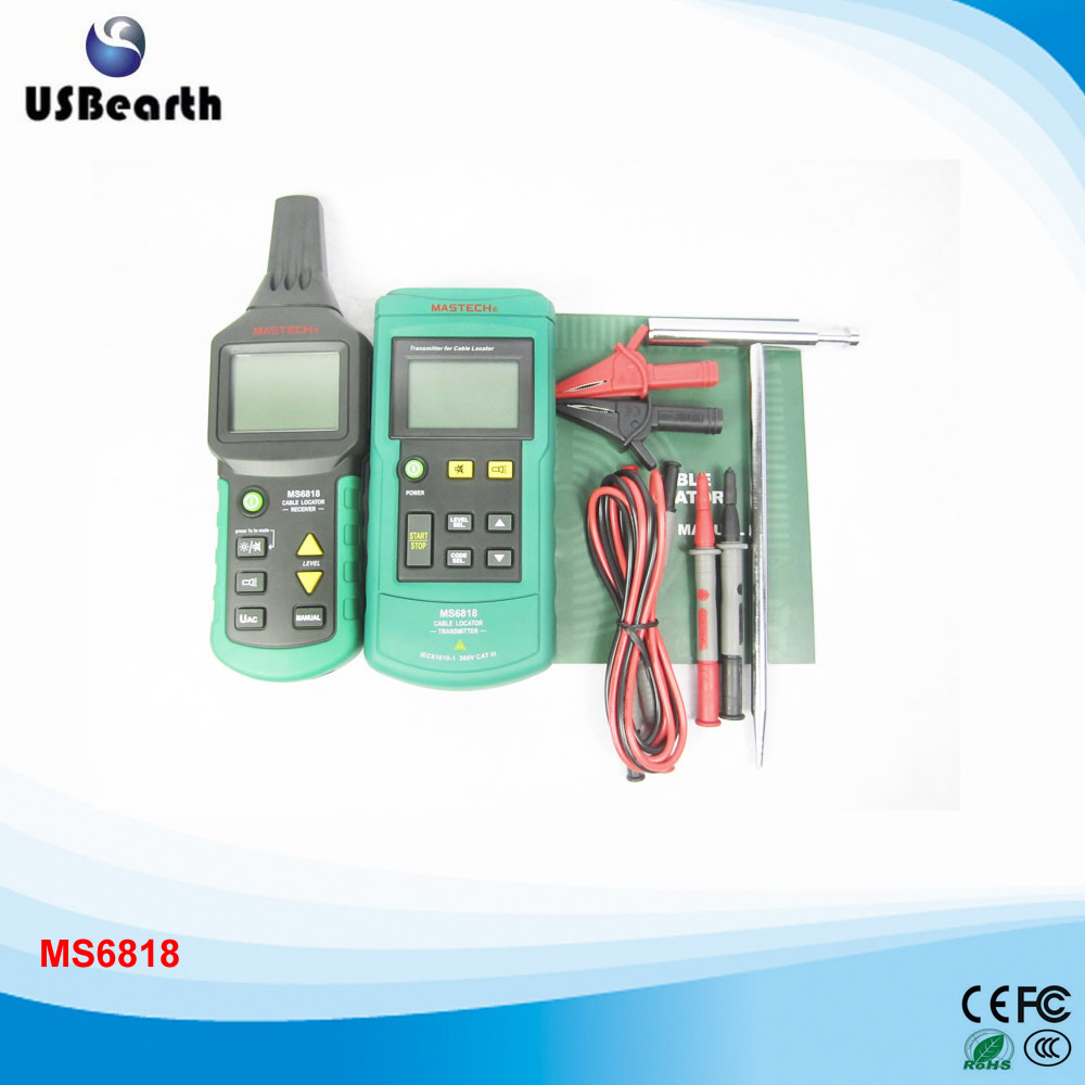 Mastech MS6818 Wire Cable Tracker ,Metal Pipe Locator, Detector Tester