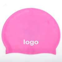 hotsale custom logo silicone swimcap seamless waterproof for adults