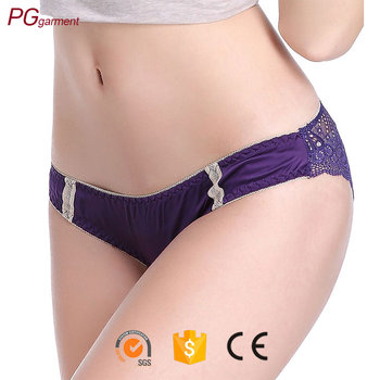 Wholesale Women's Lace panty super soft sexy satin panties for women