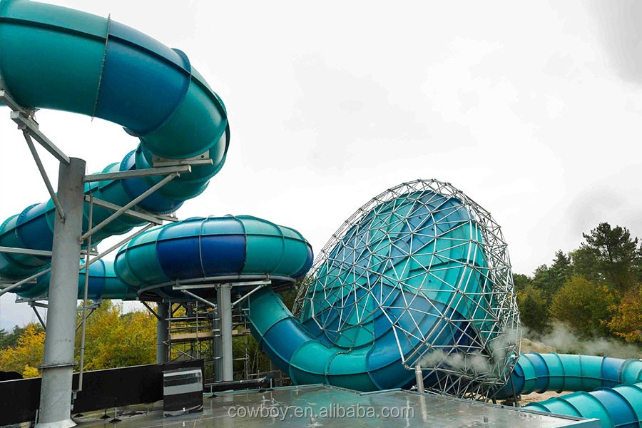 Fiberglass big tornado water slide for outdoor water parks