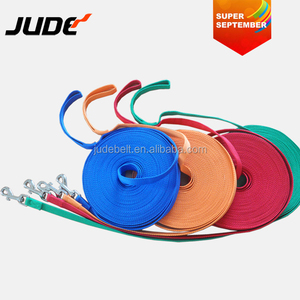 "SUPER SEPTEMBER Assorted Color Trainer 15mm 3/5"" Nylon Long Dog Training Leash with Storage Strap"