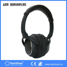 Solid Black Color Multi Function High Quality Active Noise Cancelling Headphones