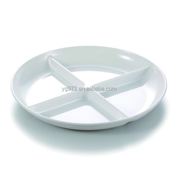 6410 Plastic Melamine Divided Lunch Plates With 4 Sections - Buy ...