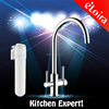 Brass dual lever kitchen tap water tap 3 way kitchen faucet