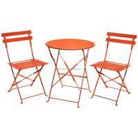 Jianglin Turquoise Metal Bistro Outdoor Garden Patio Furniture Set