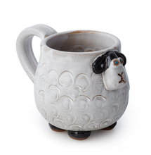 Cute Sheep Mug Cup Ceramic Stonware 3d