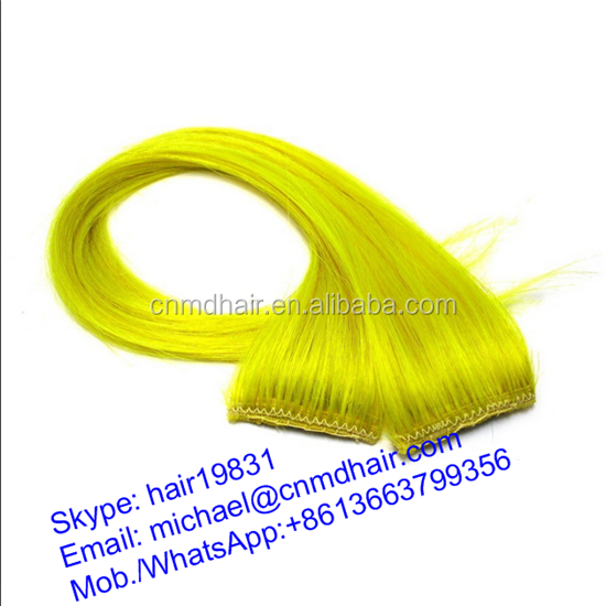 30 inch yellow synthetic hair extensions piece
