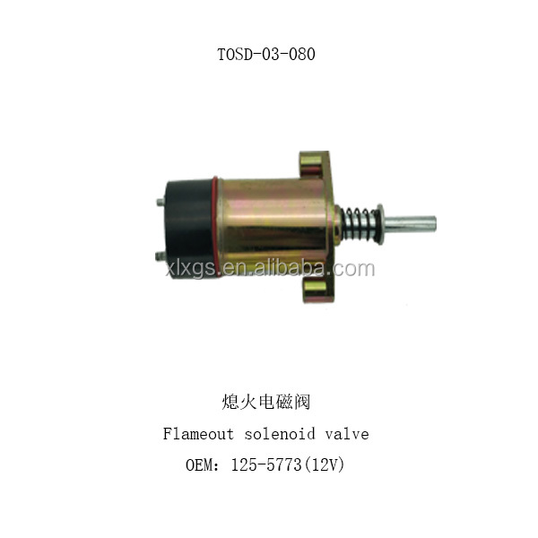 New Fuel Shutoff Solenoid for Cat 340 Engine 12 Volt 8C9986 125-5773 USA Seller!