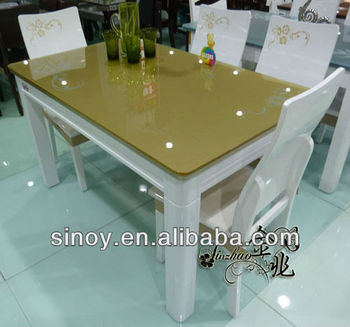 Green Back Painted Glass Table Top Board From Sinoy Mirror,China