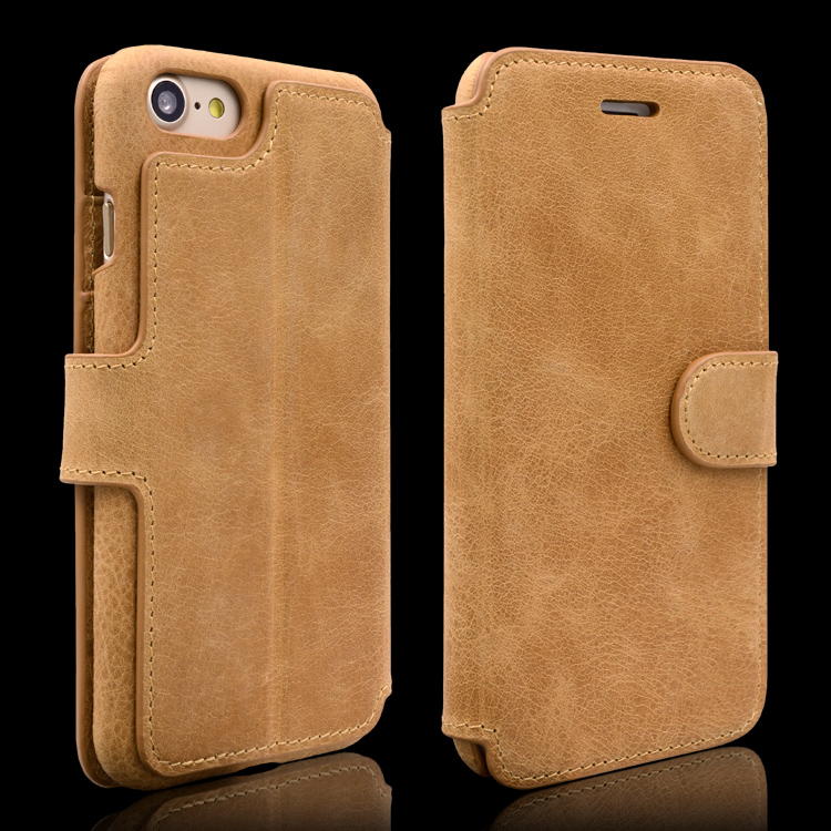 Fully back cover real leather phone case for iphone 7