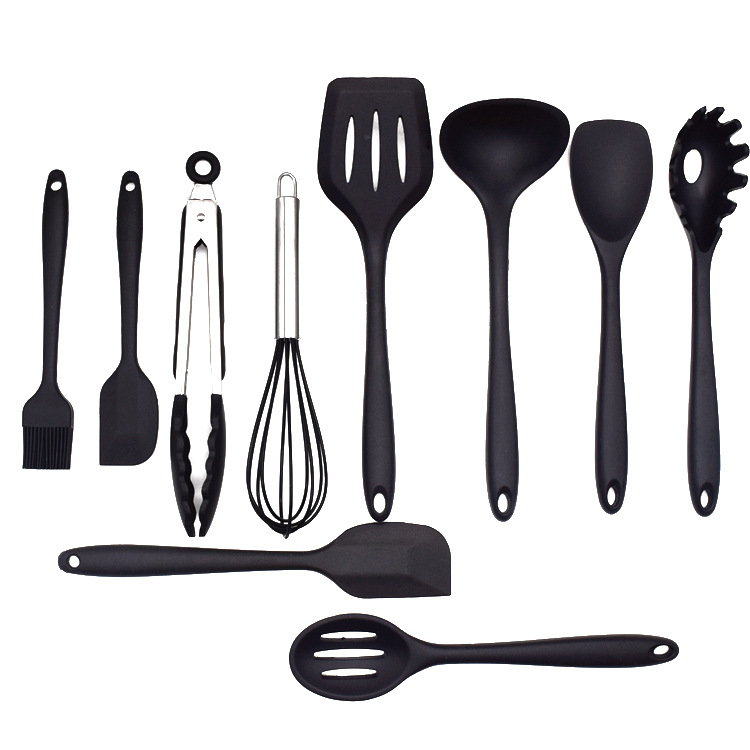 Wholesale non-stick heat resistant amazon cooking Silicone kitchen utensil set